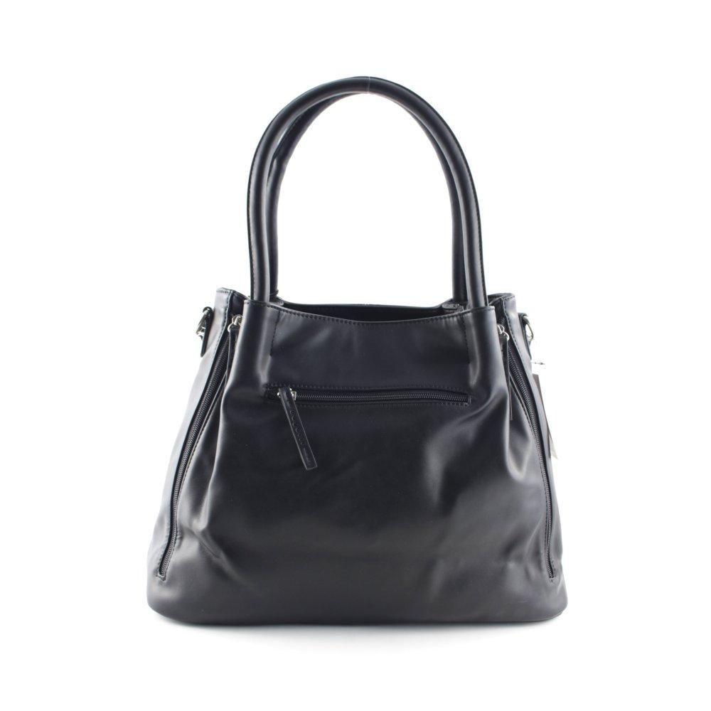 bugatti handtasche schwarz elegant damen tasche bag handbag ebay. Black Bedroom Furniture Sets. Home Design Ideas