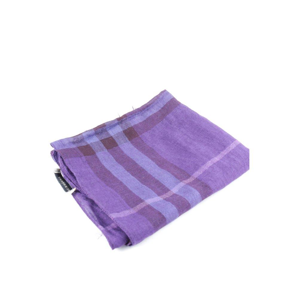 burberry fransenschal graulila lila karomuster schlichter stil damen schal scarf ebay. Black Bedroom Furniture Sets. Home Design Ideas