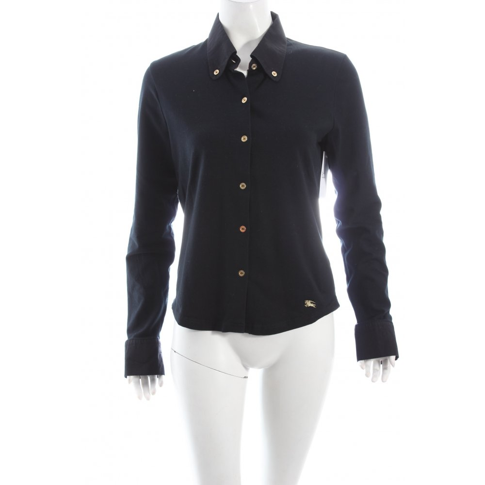 burberry shirt blouse black casual look women s size uk 12. Black Bedroom Furniture Sets. Home Design Ideas