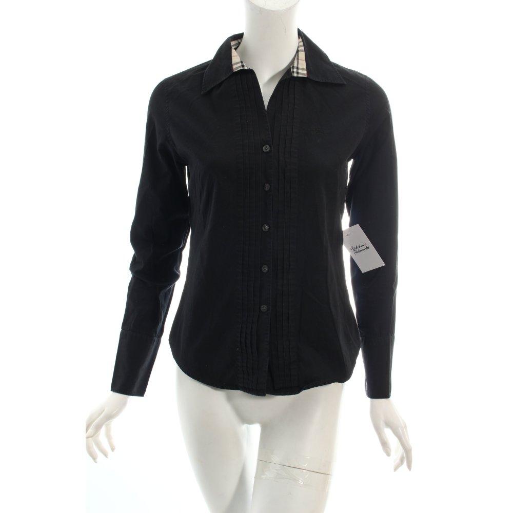 burberry hemd bluse schwarz creme klassischer stil damen gr de 36 blouse ebay. Black Bedroom Furniture Sets. Home Design Ideas