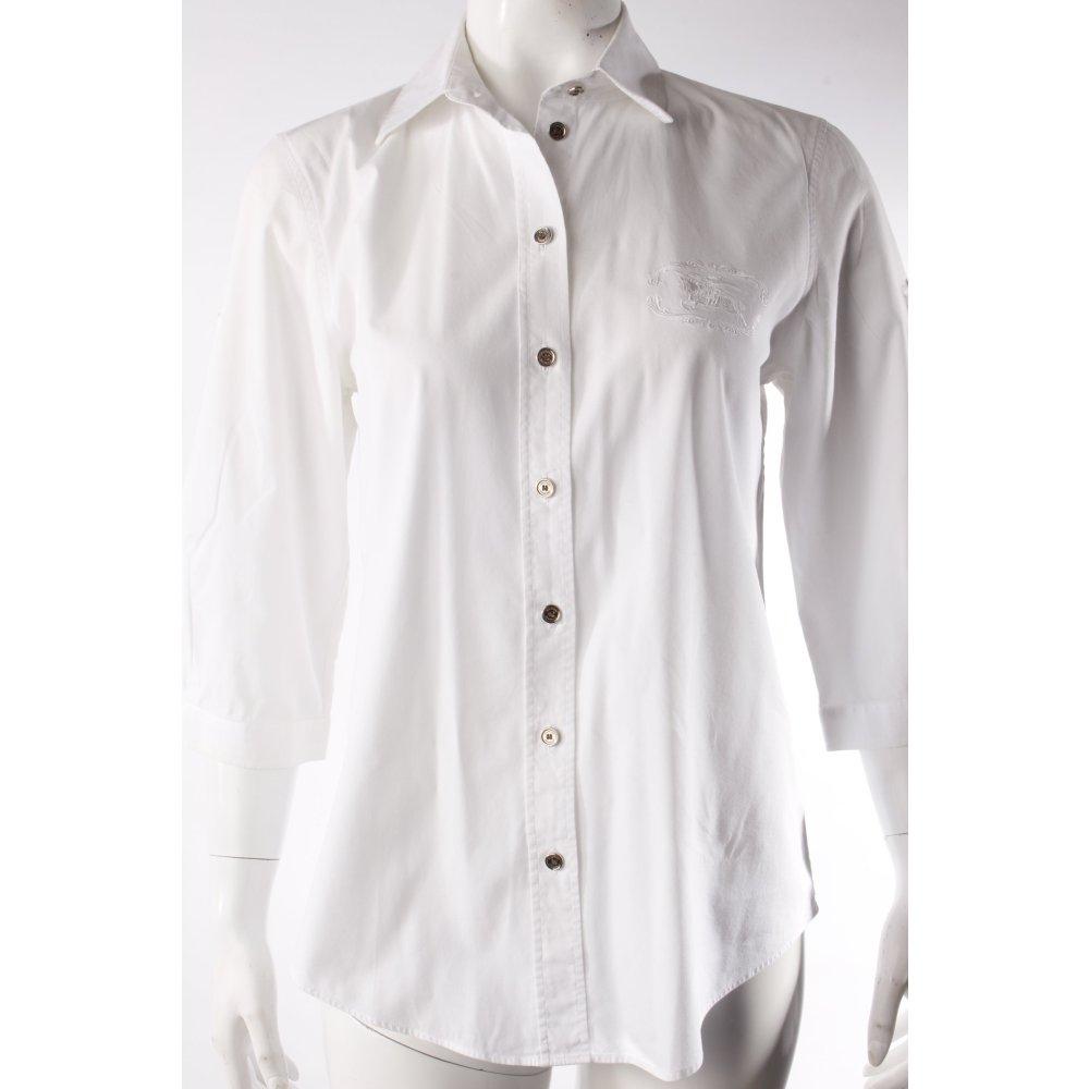Burberry hemdbluse wei damen gr de 36 wei bluse blouse - Burberry hemd damen ...