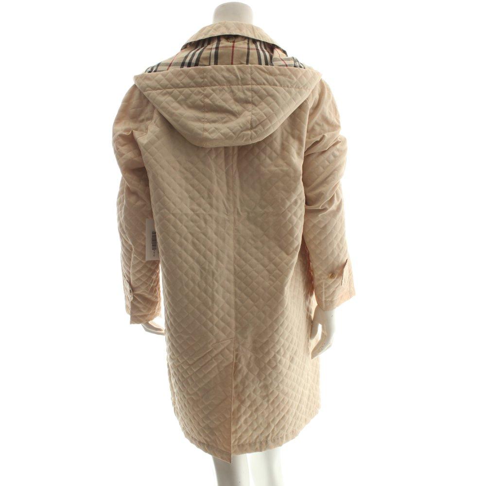 Burberry kapuzenmantel karomuster elegant damen gr de 40 for Burberry damen mantel
