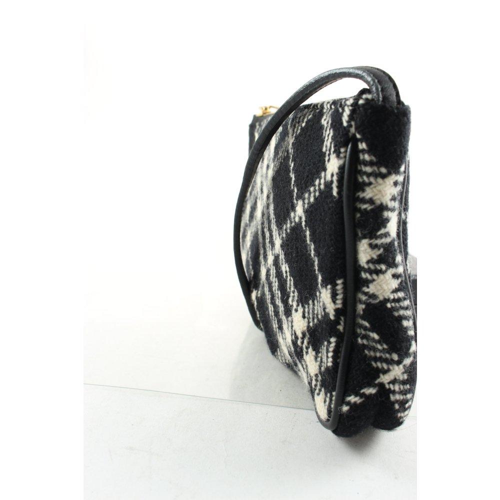 burberry minitasche schwarz wollwei karomuster elegant damen tasche bag ebay. Black Bedroom Furniture Sets. Home Design Ideas