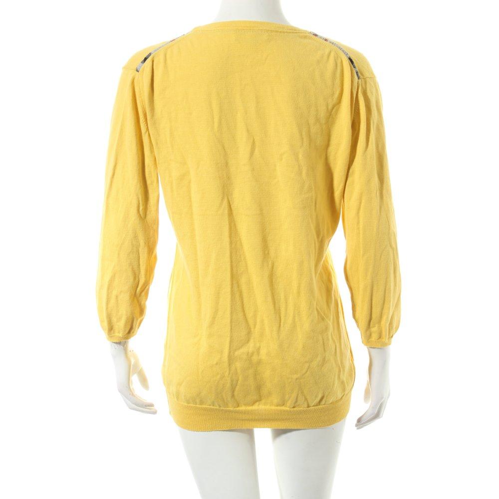 burberry pullover gelb casual look damen gr de 42. Black Bedroom Furniture Sets. Home Design Ideas