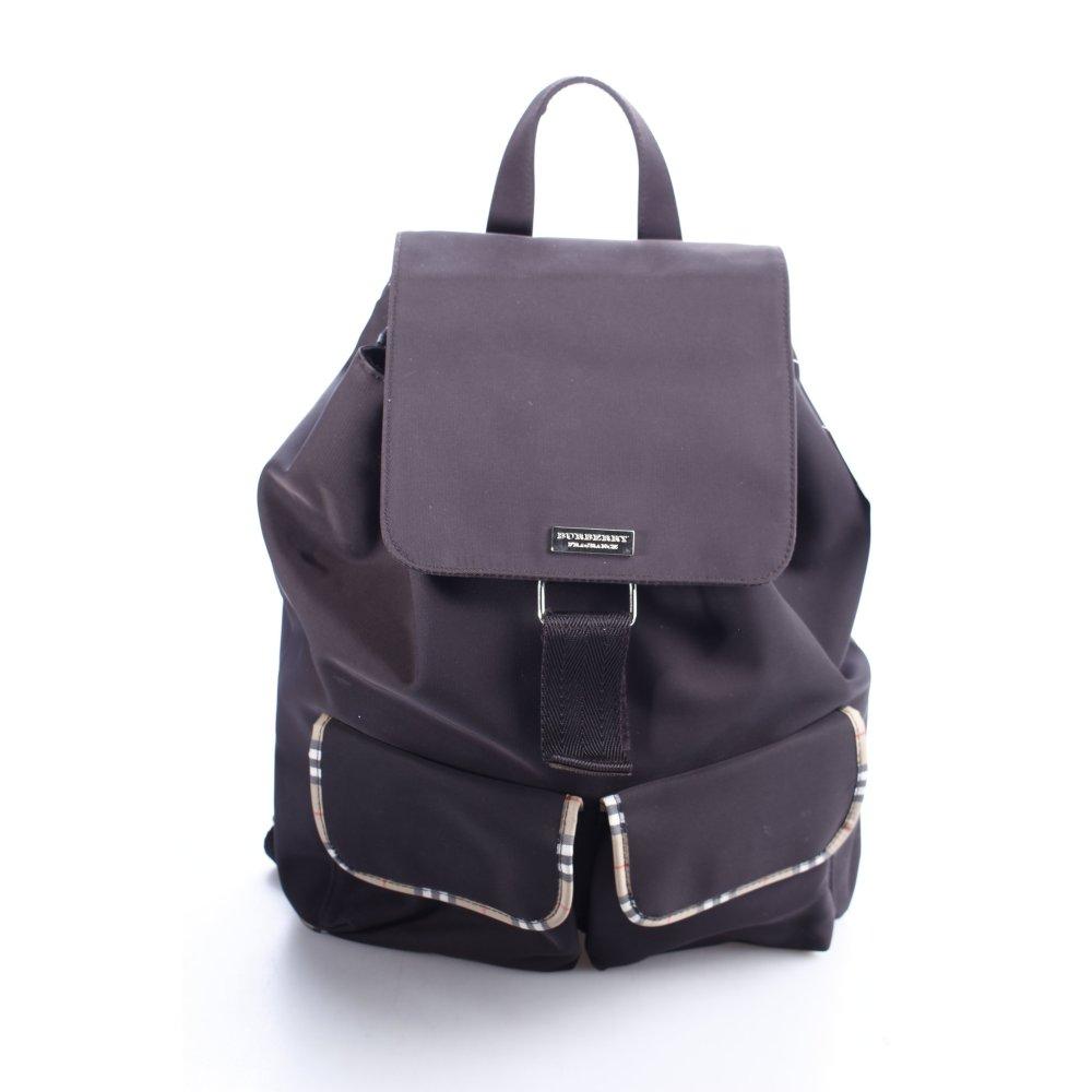 burberry rucksack karomuster klassischer stil damen schwarzbraun tasche bag ebay. Black Bedroom Furniture Sets. Home Design Ideas