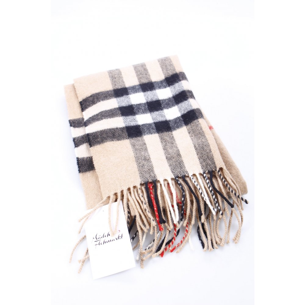 burberry schal karomuster street fashion look damen beige kaschmir scarf ebay. Black Bedroom Furniture Sets. Home Design Ideas