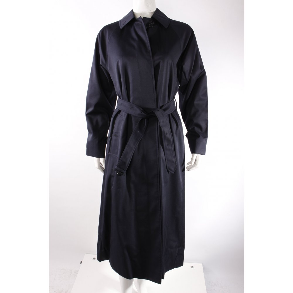 burberry trenchcoat dunkelblau damen gr de 36 mantel coat trench coat ebay. Black Bedroom Furniture Sets. Home Design Ideas