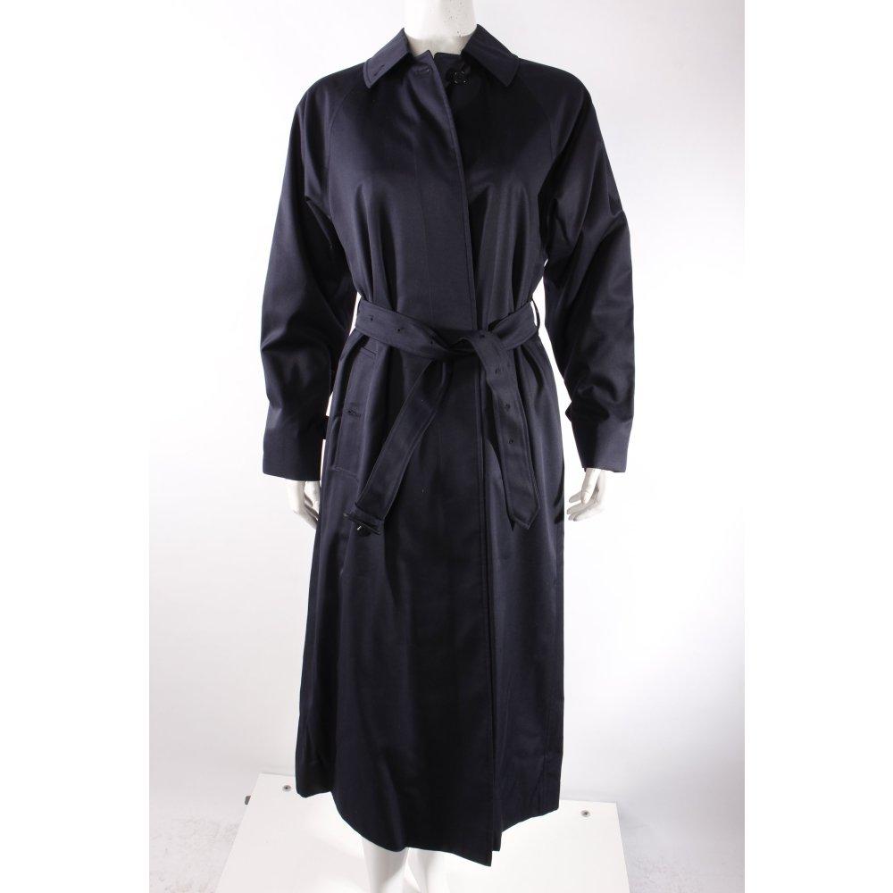 burberry trenchcoat dunkelblau damen gr de 36 mantel coat. Black Bedroom Furniture Sets. Home Design Ideas