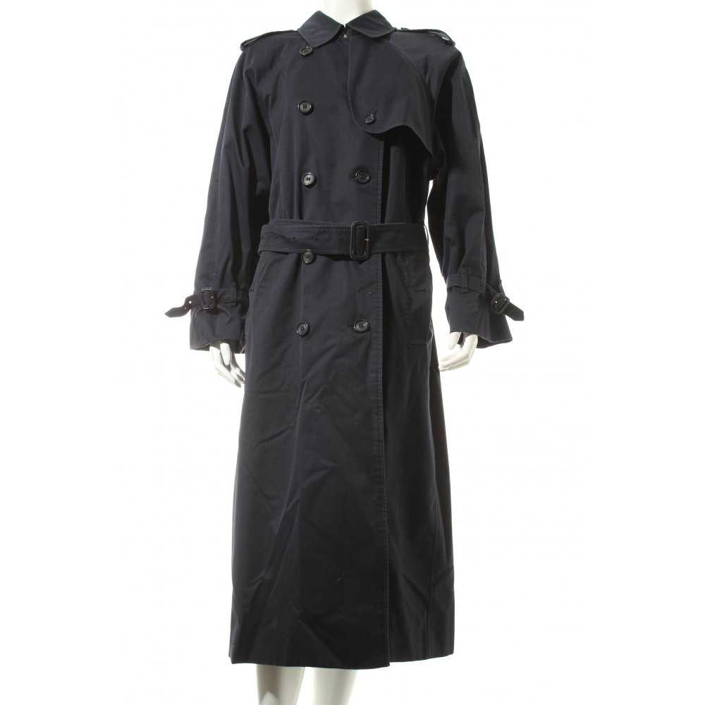 burberry trenchcoat dunkelblau klassischer stil damen gr de 44 mantel coat ebay. Black Bedroom Furniture Sets. Home Design Ideas