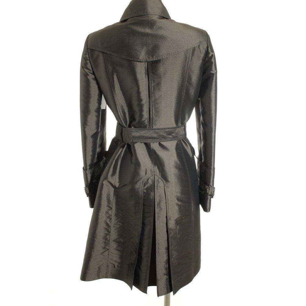 burberry trenchcoat gr ngrau glanz optik damen gr de 38 mantel coat trench coat ebay. Black Bedroom Furniture Sets. Home Design Ideas