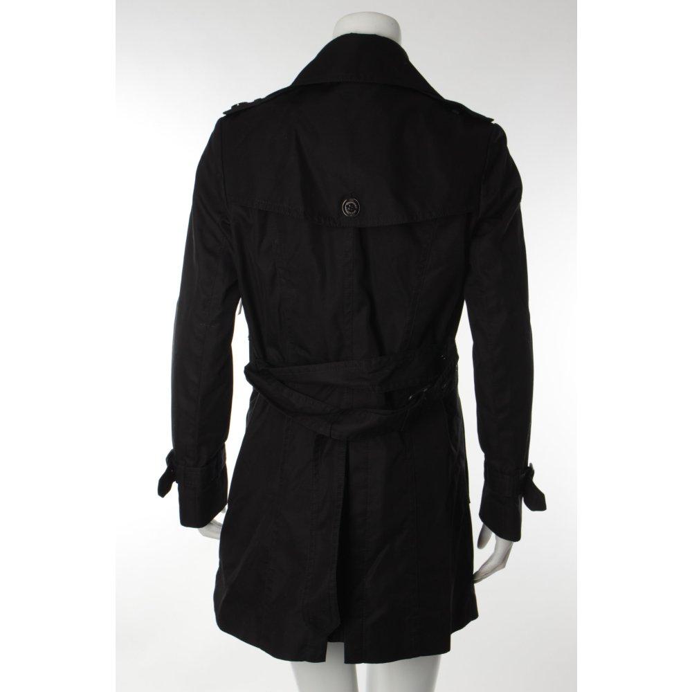 burberry trenchcoat schwarz business look damen gr de 38 mantel coat ebay. Black Bedroom Furniture Sets. Home Design Ideas