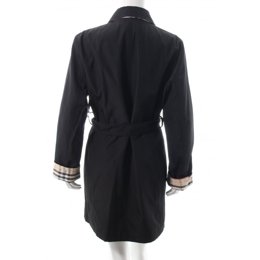 burberry trenchcoat schwarz damen gr de 40 mantel coat. Black Bedroom Furniture Sets. Home Design Ideas