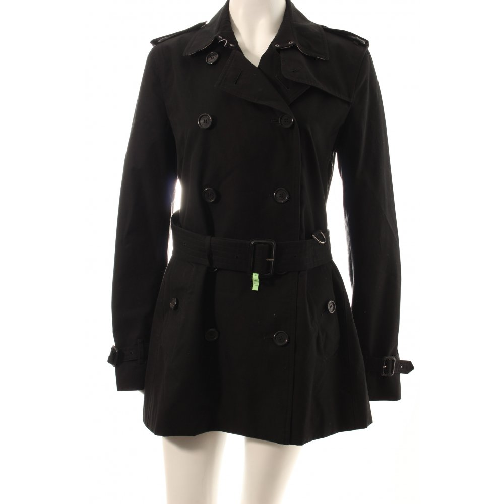 burberry trenchcoat the kensington schwarz damen gr de 40 mantel coat ebay. Black Bedroom Furniture Sets. Home Design Ideas