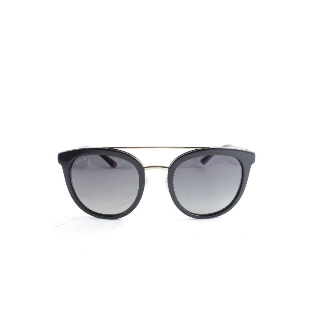 bvlgari runde sonnenbrille schwarz elegant damen. Black Bedroom Furniture Sets. Home Design Ideas