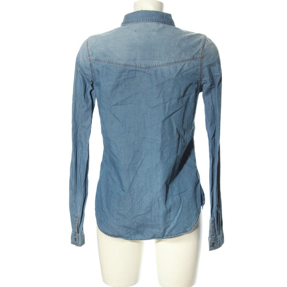 C A Clockhouse Blusa Vaquera Azul Look Casual Mujeres Talla Eu 36 Algodon Ebay
