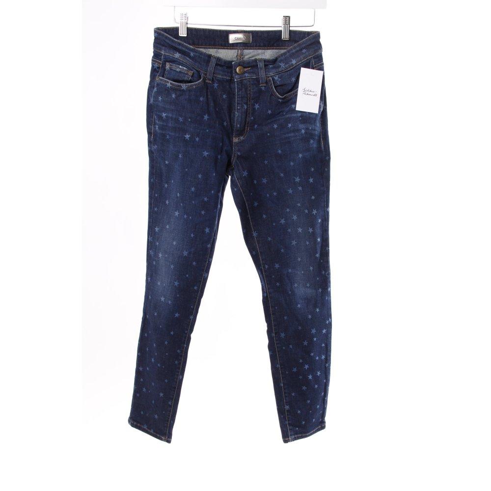 cambio skinny jeans mit sternen damen gr de 40 blau ebay. Black Bedroom Furniture Sets. Home Design Ideas