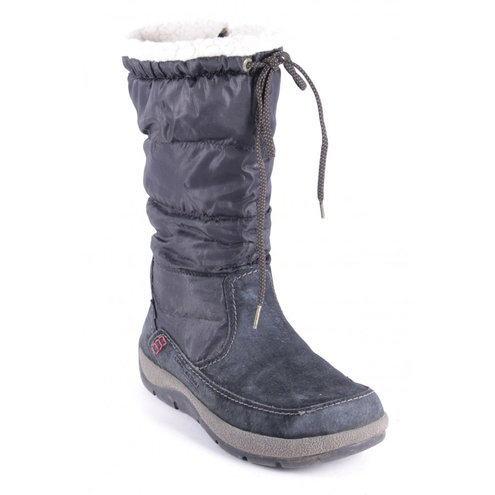 camel active snow boots black athletic style women s size. Black Bedroom Furniture Sets. Home Design Ideas