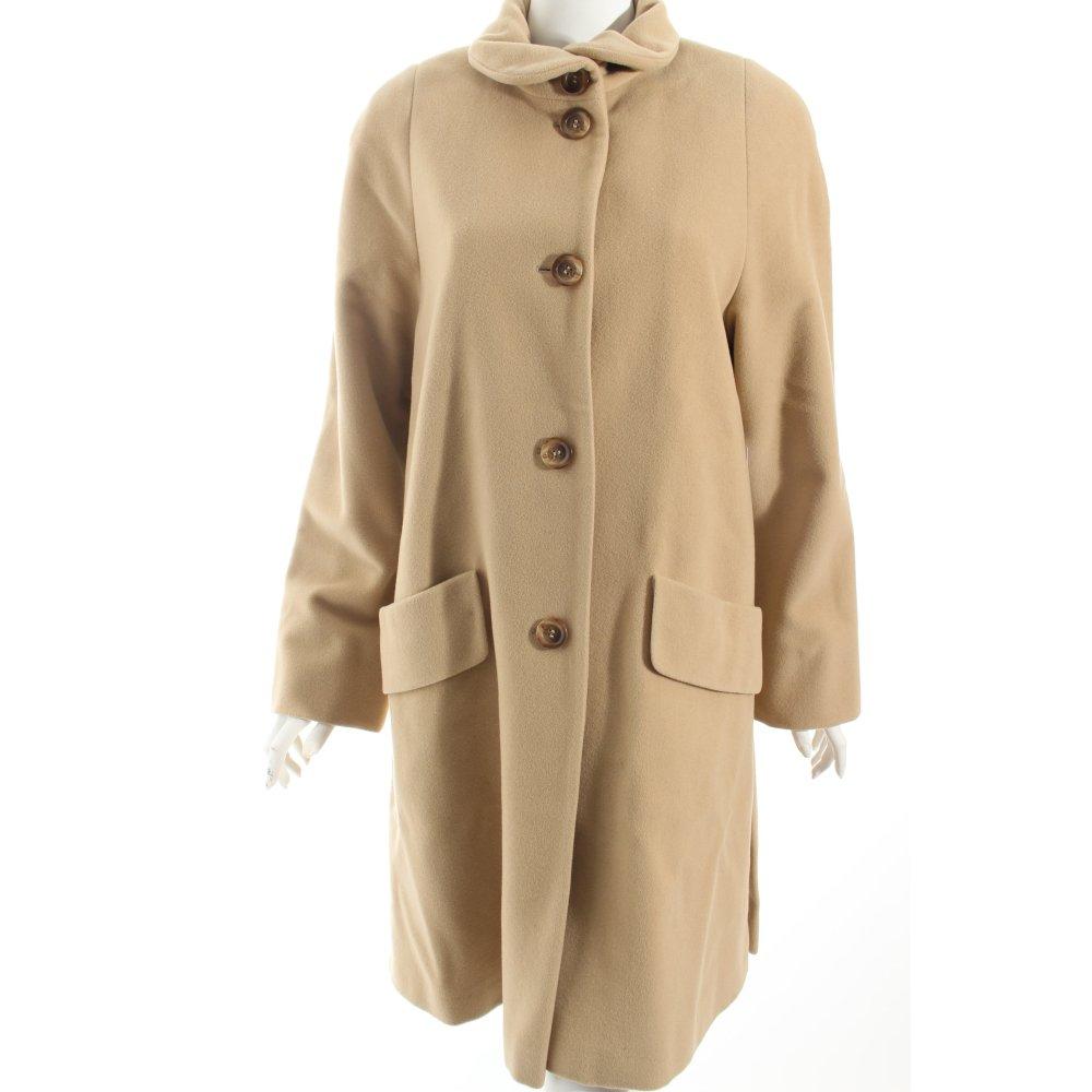carla degen wollmantel beige klassischer stil damen gr de 38 mantel coat ebay. Black Bedroom Furniture Sets. Home Design Ideas