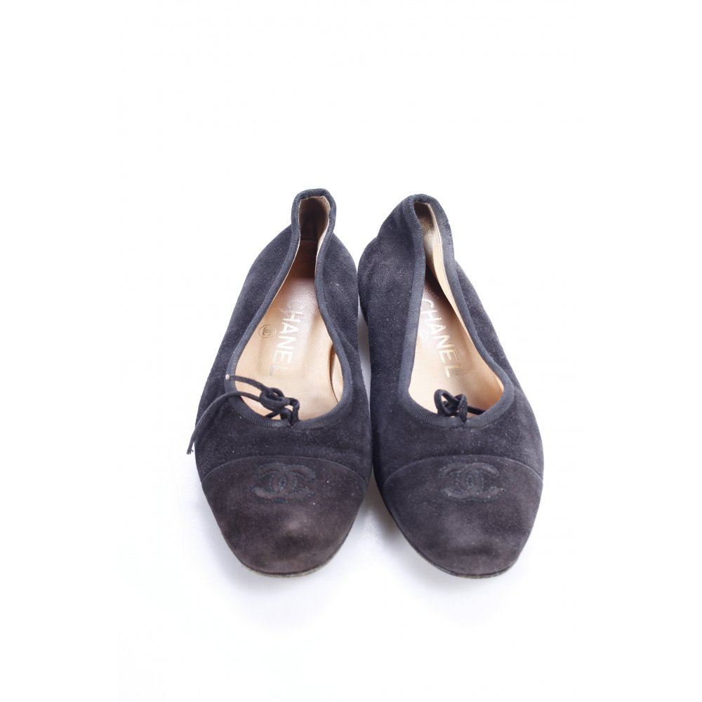 chanel ballerinas black casual look women s size uk 2