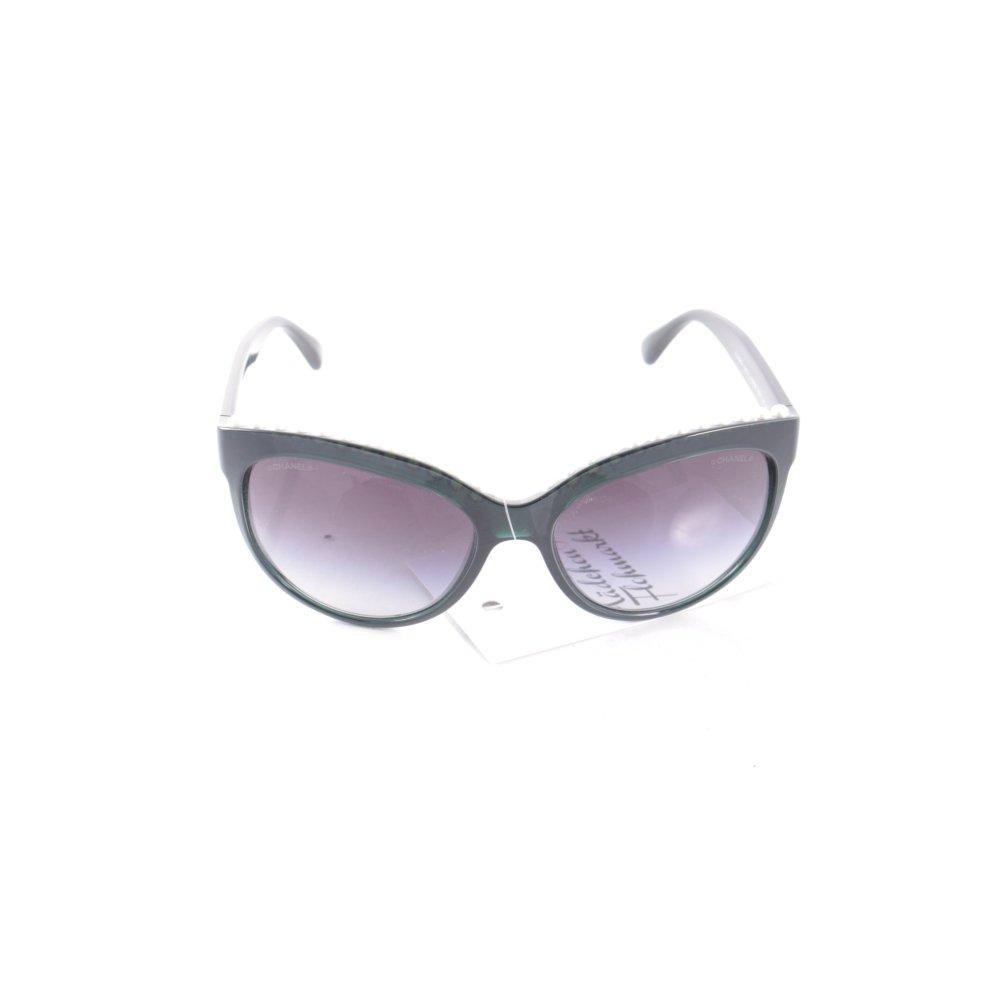 chanel butterfly brille dunkelgr n wei eleganz look damen. Black Bedroom Furniture Sets. Home Design Ideas