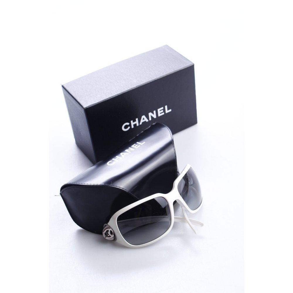 chanel eckige sonnenbrille creme extravaganter stil damen. Black Bedroom Furniture Sets. Home Design Ideas
