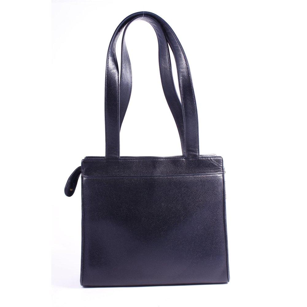 chanel schultertasche schwarz vintage artikel damen tasche bag leder ebay. Black Bedroom Furniture Sets. Home Design Ideas
