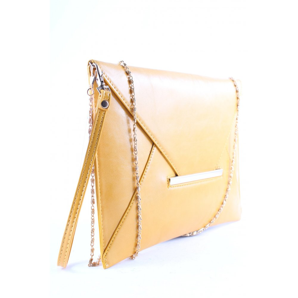 Clutch dunkelgelb klassischer stil damen tasche bag ebay for Klassischer stil