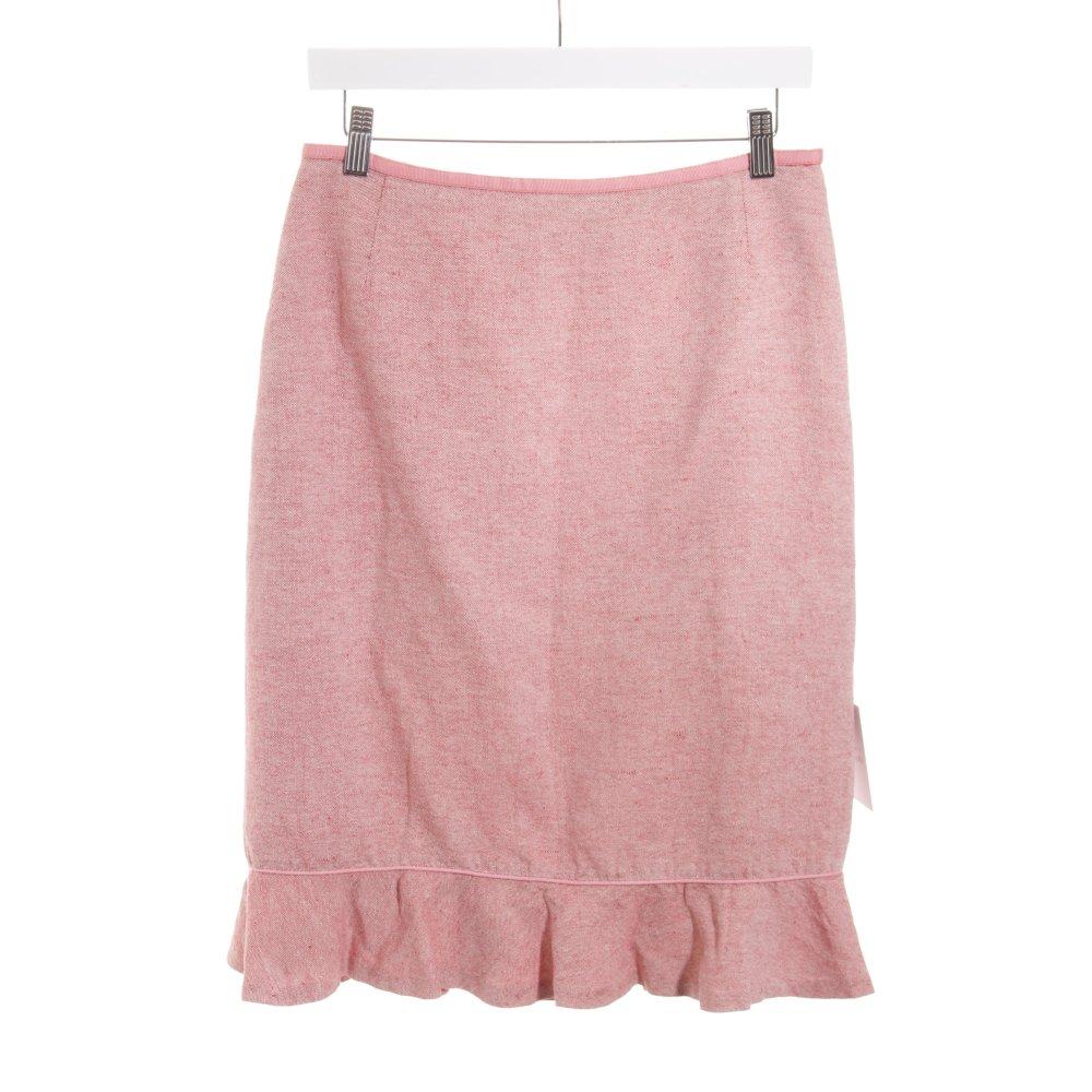 check out 22d57 a732a Details zu COAST Midirock rot-rosa meliert Romantik-Look Damen Gr. DE 38  Rock Skirt Seide