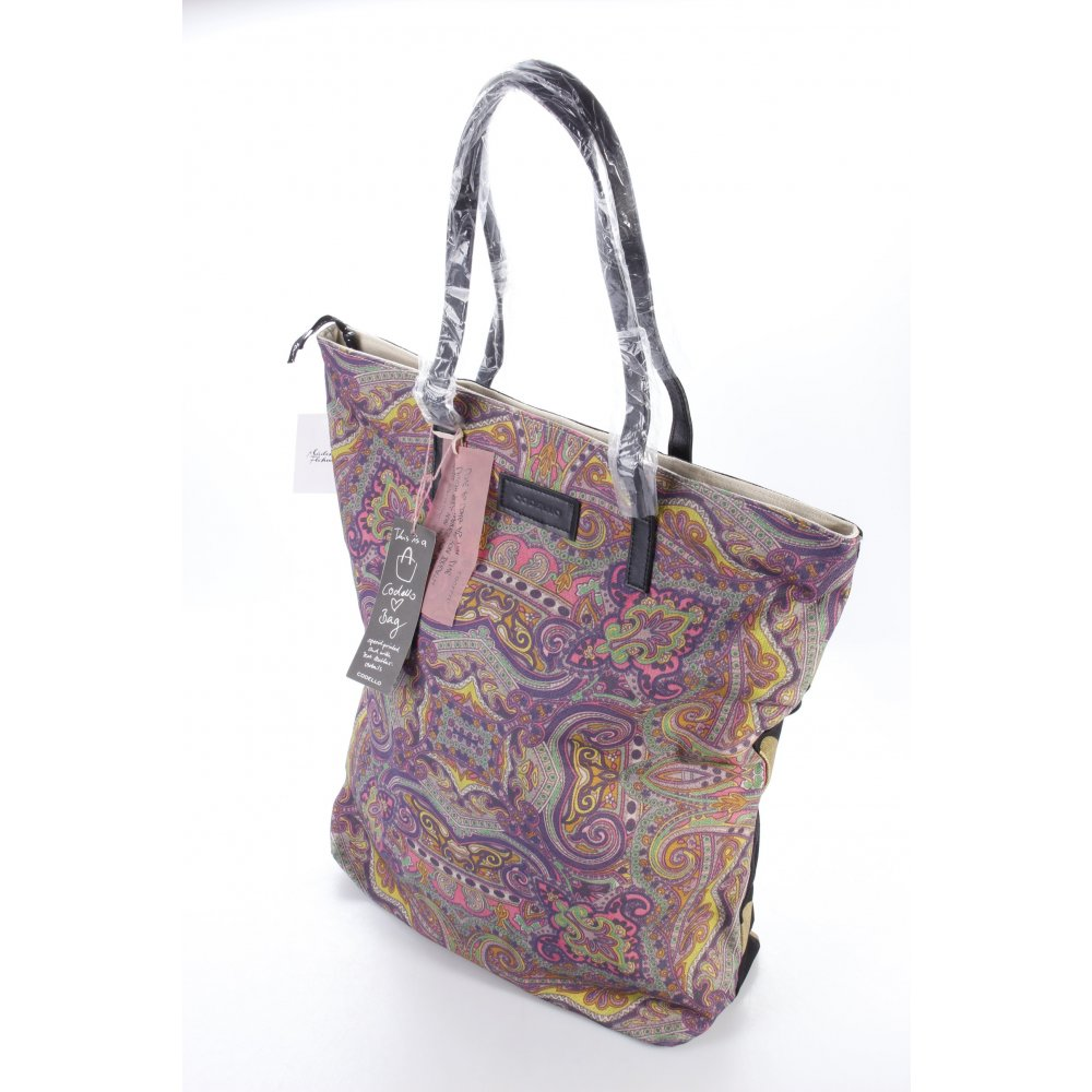 codello shopper schwarz gold damen tasche bag. Black Bedroom Furniture Sets. Home Design Ideas