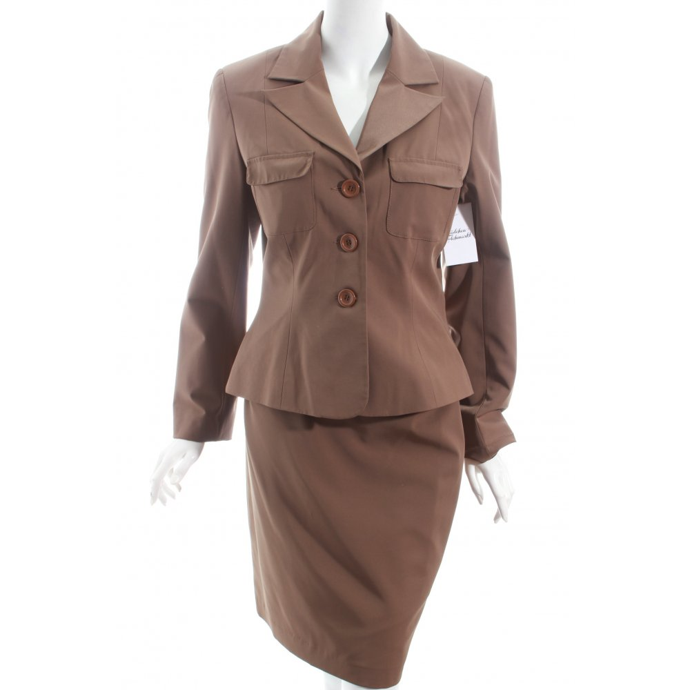 comma kost m khaki business look damen gr de 40 anzug suit ladies suit. Black Bedroom Furniture Sets. Home Design Ideas
