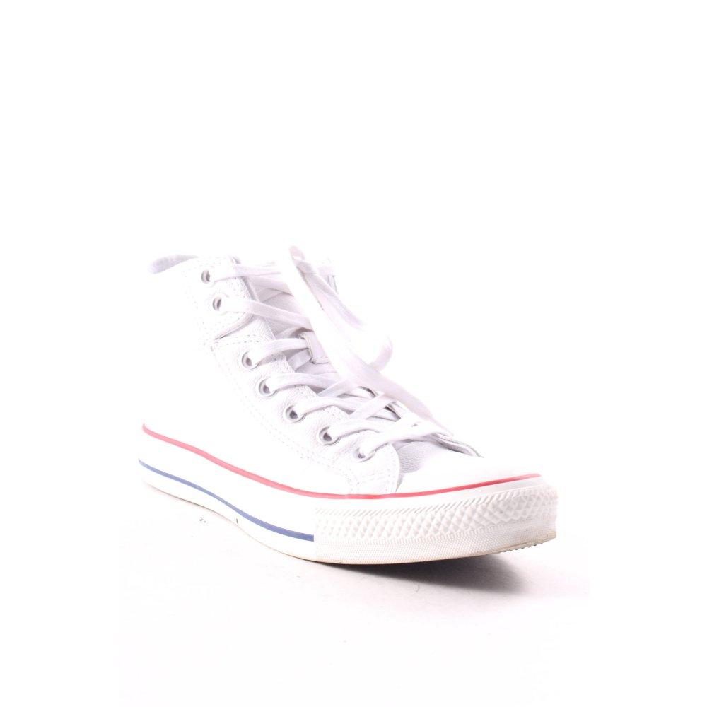 CONVERSE Sneaker alta multicolore stile atletico Donna Taglia IT 39 bianco Pelle