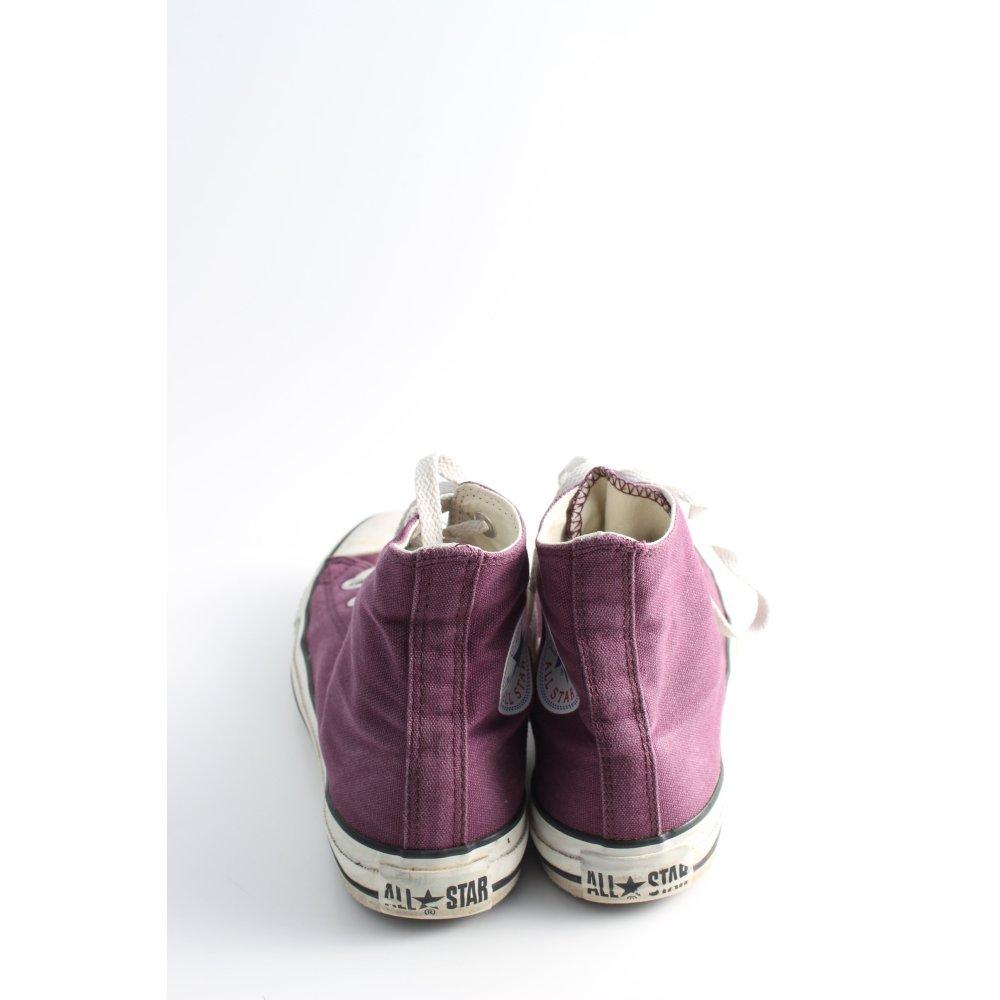 Détails sur CONVERSE Basket à lacet rose blanc style décontracté Dames T 38