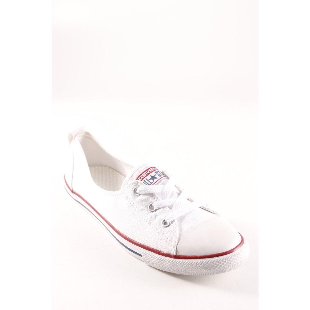 CONVERSE Sneaker stringata bianco carminio stile casual Donna Taglia IT 42