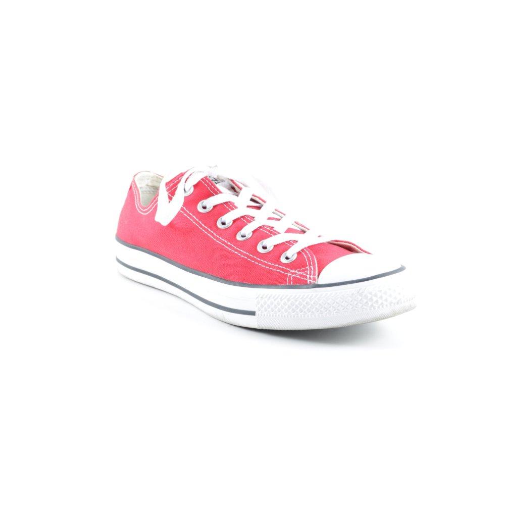 CONVERSE Sneaker stringata bianco rosso stile casual Donna Taglia IT 41