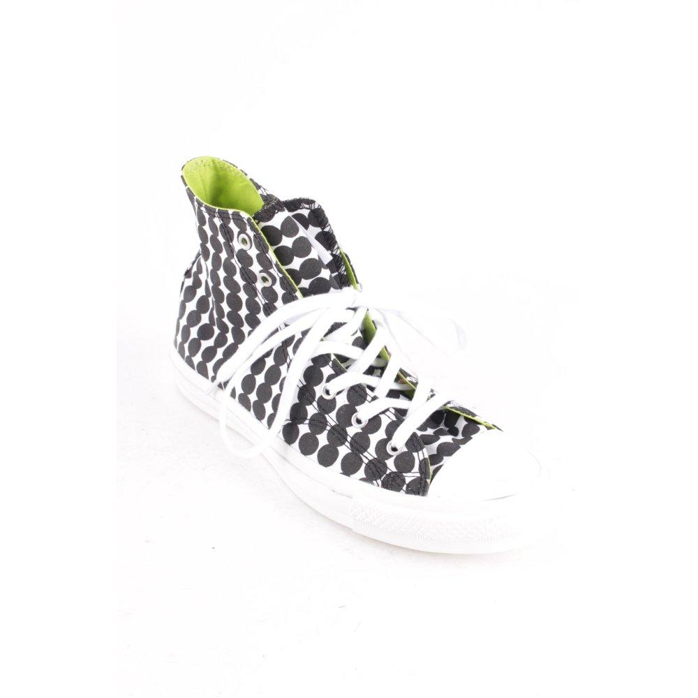 Détails sur CONVERSE Basket à lacet blanc noir motif de tache style décontracté Dames T 38