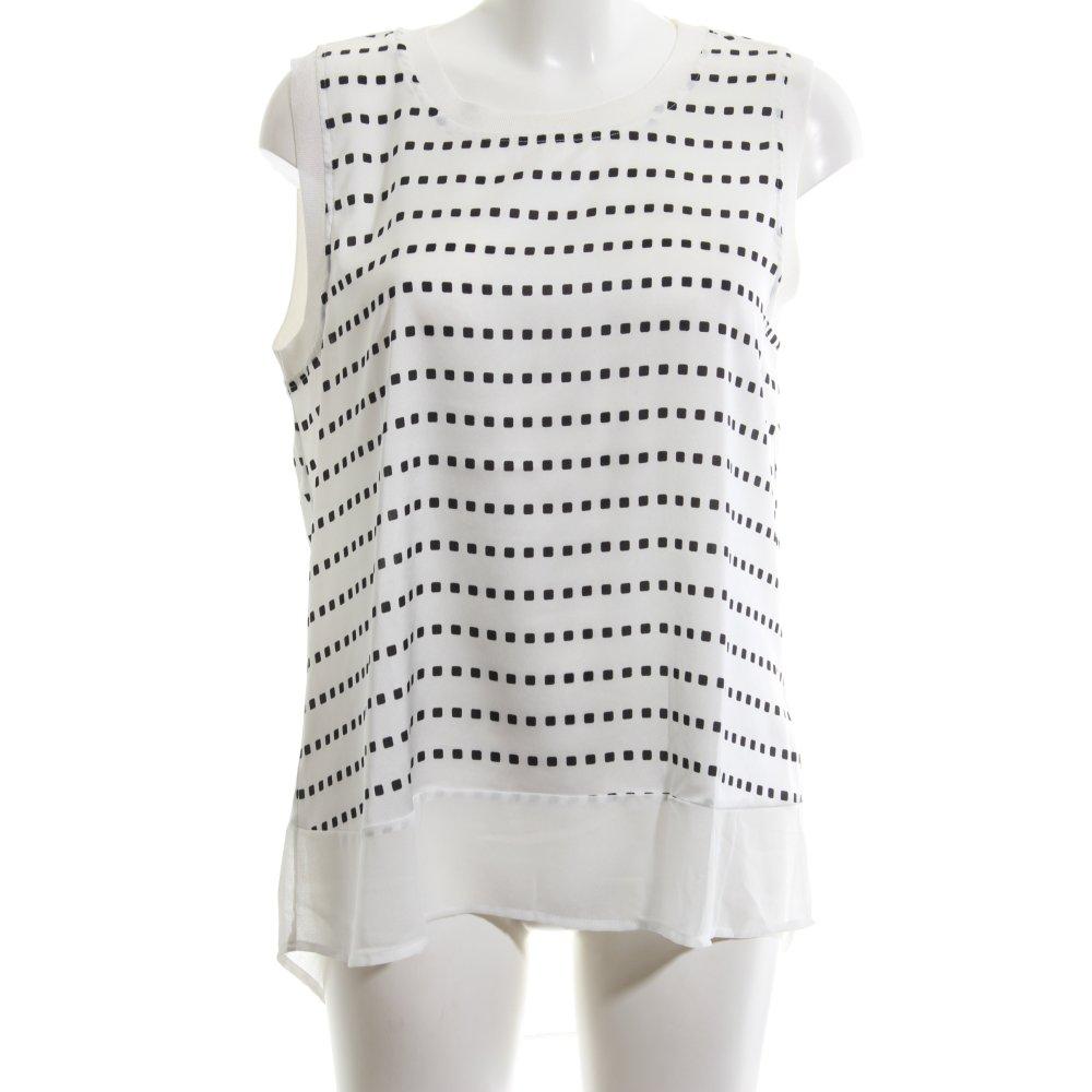 Cortefiel Camisa De Mujer Blanco Negro Look Casual Mujeres Talla Eu 40 Top Ebay