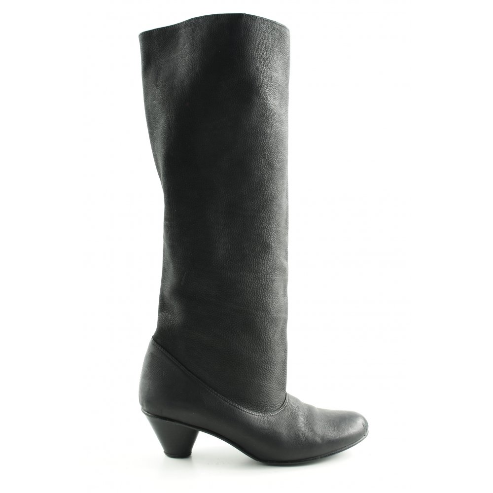 Details zu D. CO COPENHAGEN Absatz Stiefel schwarz Business Look Damen Gr. DE 40 High Boots