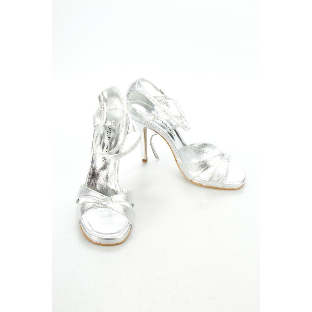 david braun high heel sandal silver colored wet look women. Black Bedroom Furniture Sets. Home Design Ideas