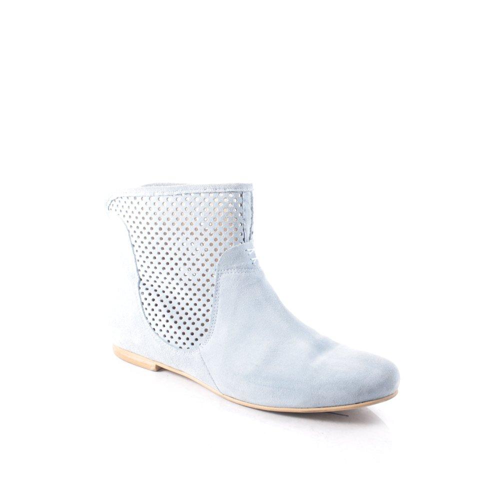 deerberg stiefeletten marie damen gr de 40 hellblau schuhe shoes booties ebay. Black Bedroom Furniture Sets. Home Design Ideas