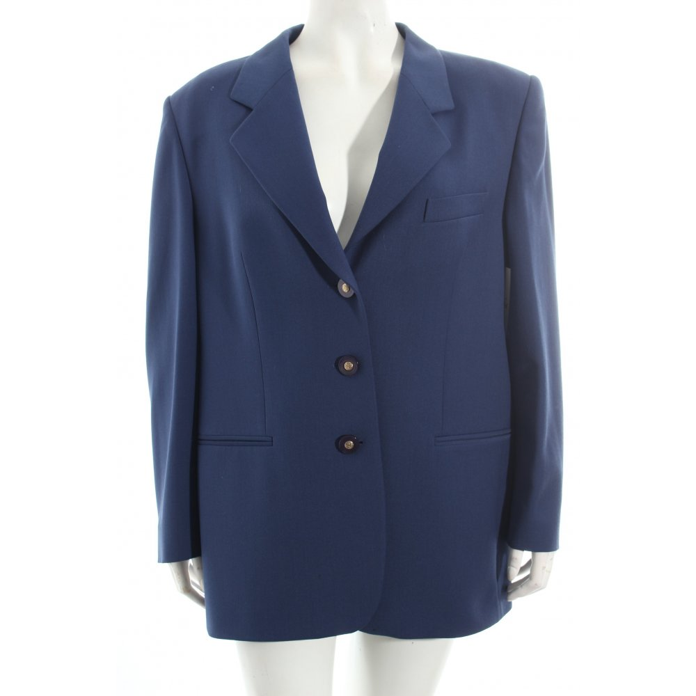 delmod long blazer blau vintage look damen gr de 42 long blazer ebay. Black Bedroom Furniture Sets. Home Design Ideas