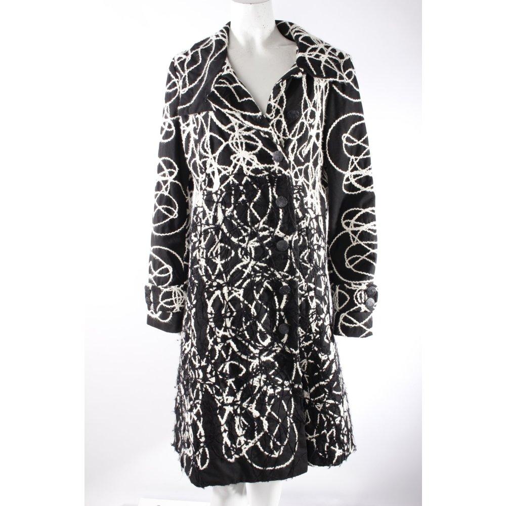 desigual mantel schwarz wei damen gr de 44 coat ebay. Black Bedroom Furniture Sets. Home Design Ideas