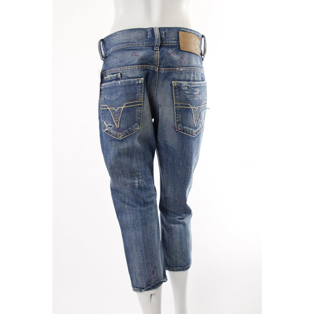 diesel boyfriend jeans used look damen gr de 36 blau. Black Bedroom Furniture Sets. Home Design Ideas