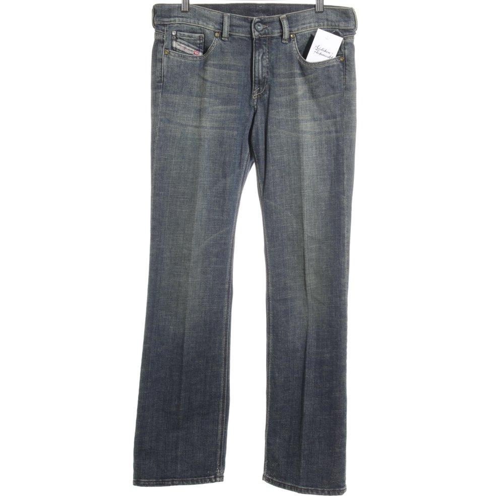 DIESEL INDUSTRY Jeans coupe-droite vert clair-bleu foncé style délavé Dames T 44   eBay