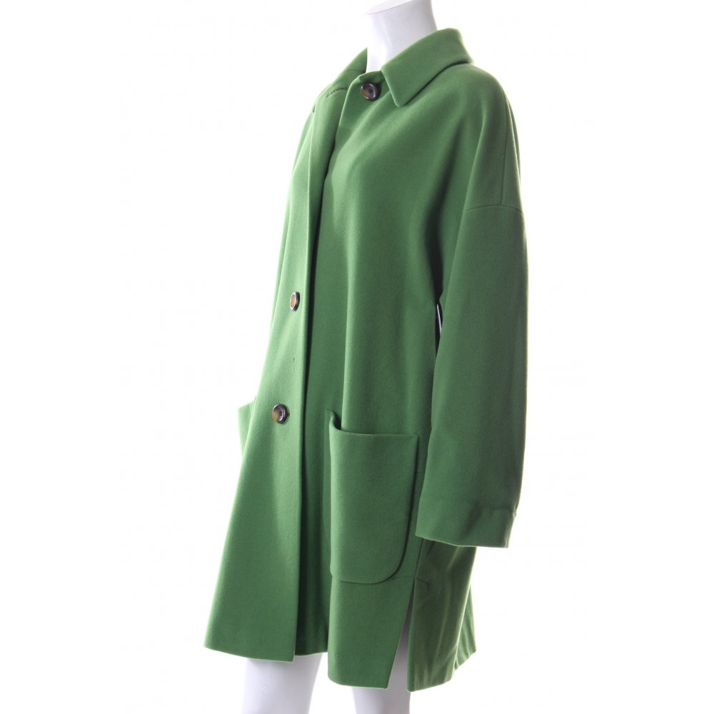 dinomoda wollmantel grasgr n business look damen gr de 34 mantel coat. Black Bedroom Furniture Sets. Home Design Ideas