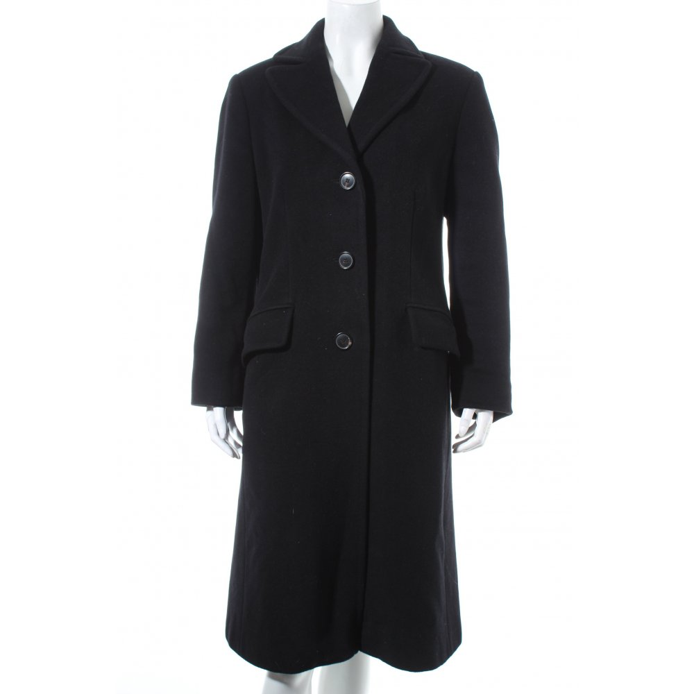 dinomoda wollmantel schwarz business look damen gr de 38 mantel coat wool coat ebay. Black Bedroom Furniture Sets. Home Design Ideas