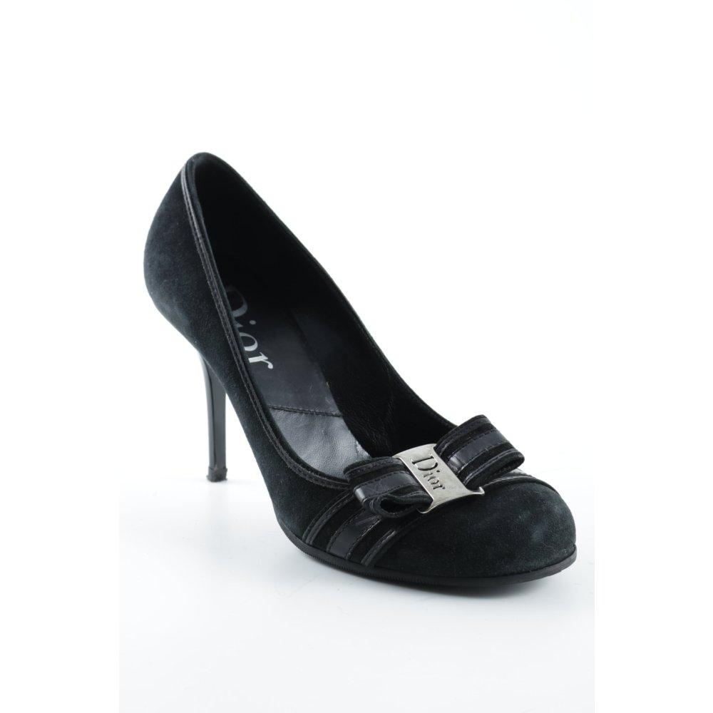 dior high heels schwarz elegant damen gr de 38 pumps. Black Bedroom Furniture Sets. Home Design Ideas