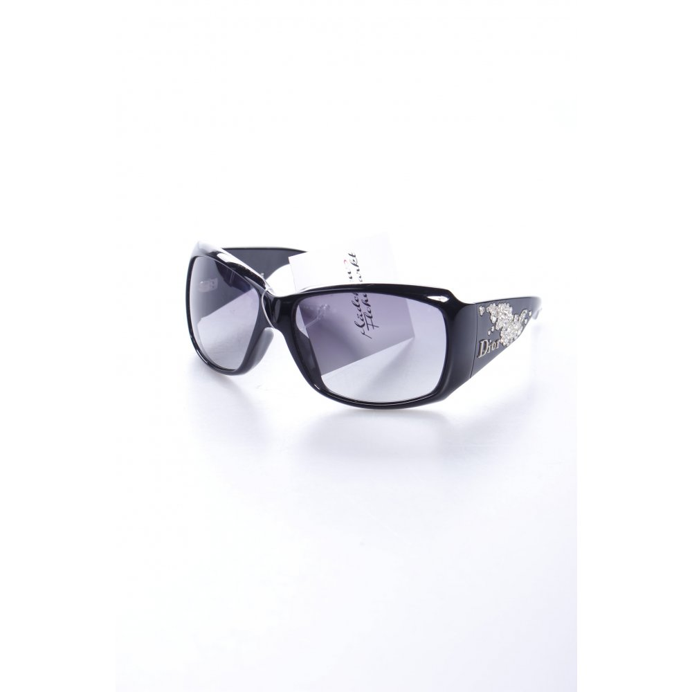 dior sonnenbrille schwarz glitzersteinverzierung damen sunglasses ebay. Black Bedroom Furniture Sets. Home Design Ideas