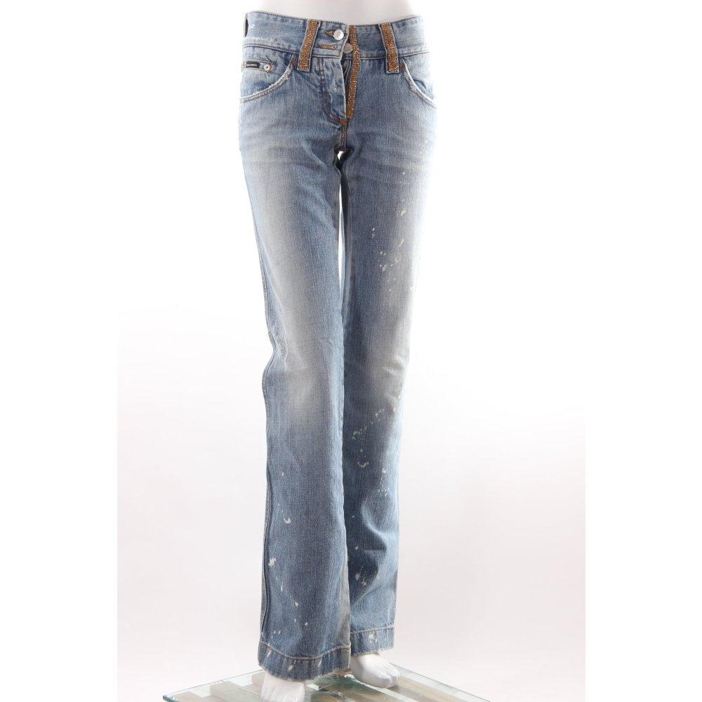 dolce gabbana boot cut jeans mit glitzersteinen damen gr. Black Bedroom Furniture Sets. Home Design Ideas
