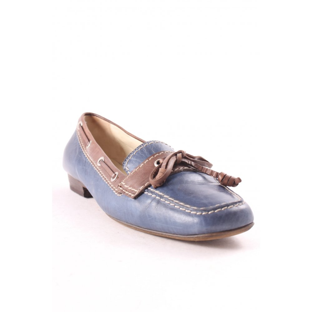donna carolina ballerinas blue brown casual look women s size uk 6 shoes leather ebay. Black Bedroom Furniture Sets. Home Design Ideas