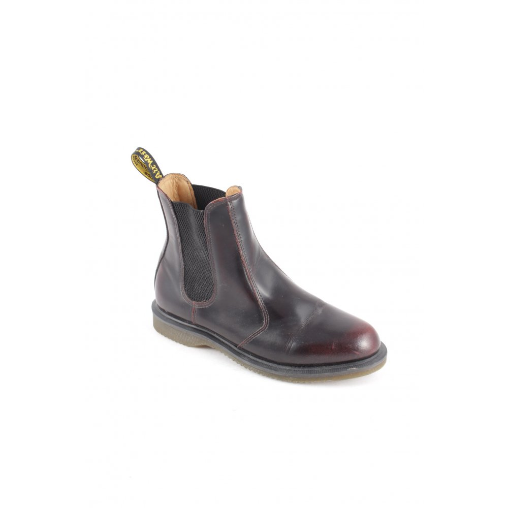 dr martens chelsea boots brown red casual look women s. Black Bedroom Furniture Sets. Home Design Ideas